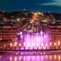 Branson Landing Fountains Along Lake Taneycomo
