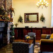 Front Desk & Lobby Fireplace