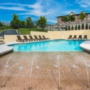Outdoor Walk-In Pool & Fountains