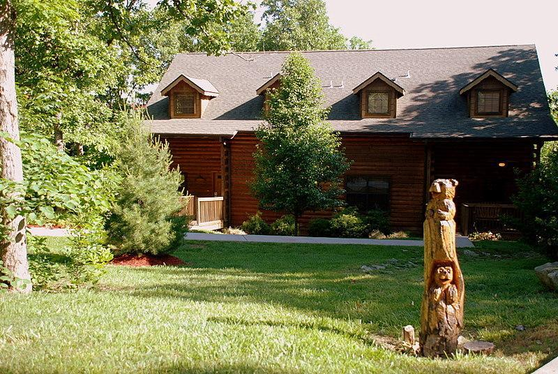 1 bedroom cabin at grand mountain branson call 1 800 for Log cabin packages for sale