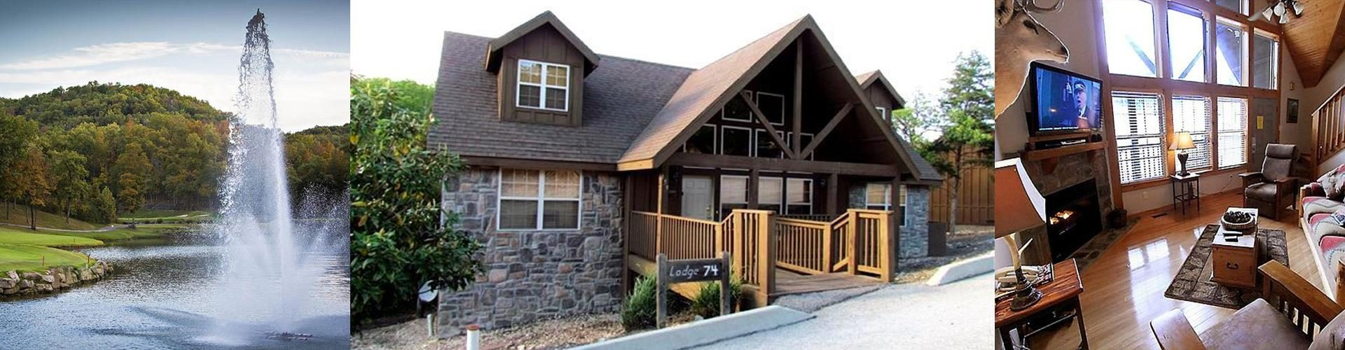 Quiet creek cabin 4 bedroom cabin at stonebridge branson for 7 bedroom cabins in branson mo