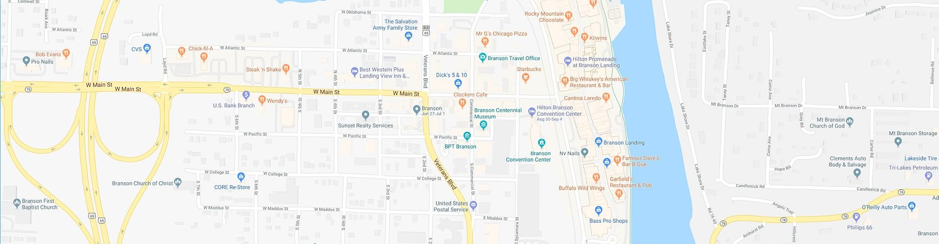 Free Branson 2020 Map Travel