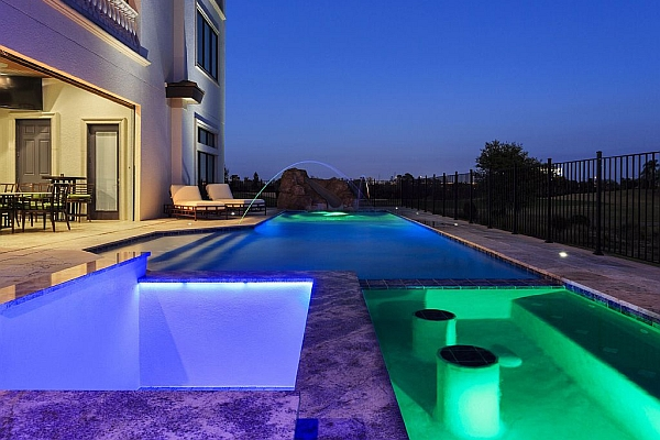 Bowling Alley Mansion Outdoor Pool