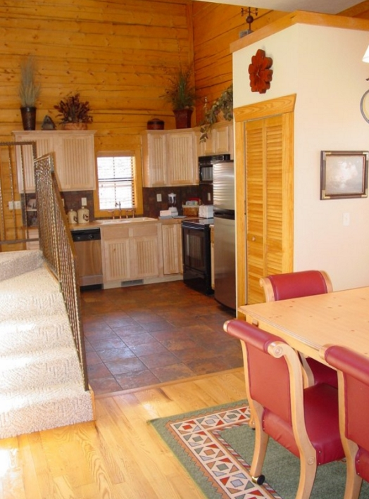 2 Bedroom Kitchen: Cabins At Grand Mountain