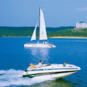 Spirit of America Sailing Catamaran Lake Cruises!