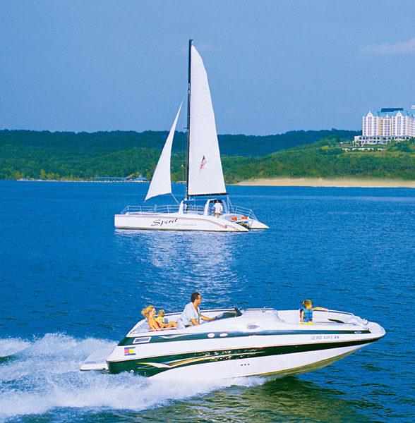 Spirit of America Sailing Catamaran Lake Cruises!