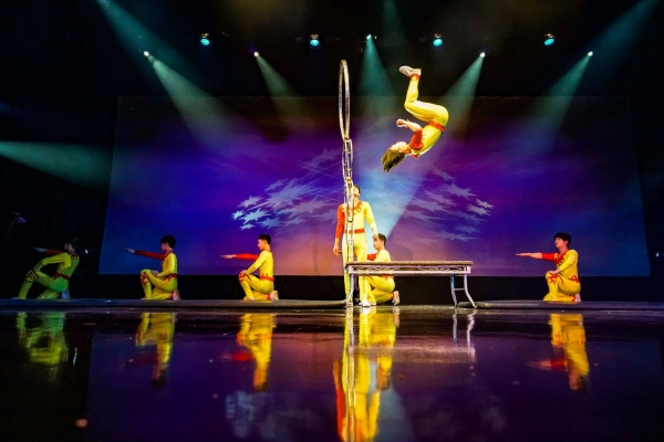 The Amazing Acrobats of Shanghai perform incredible feats of flexibility, strength, and agility every day in June!
