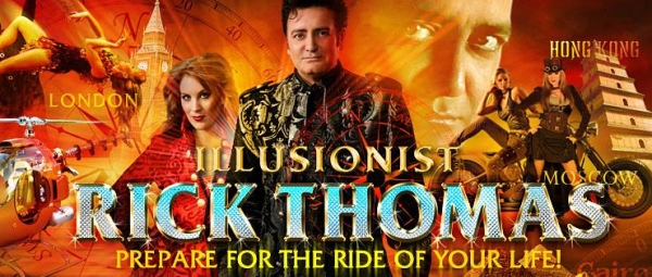 See the unbelievable magic and illusions of master showman Rick Thomas as he presents his amazing magic show!