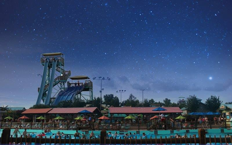 "White Water water park will be celebrating ""Night Water"" and staying open late until 10:00 pm on certain dates throughout July and August."