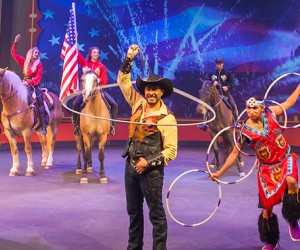 The festival features the Wild West Show!