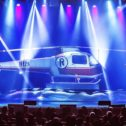 A Helicopter Appears on Stage!