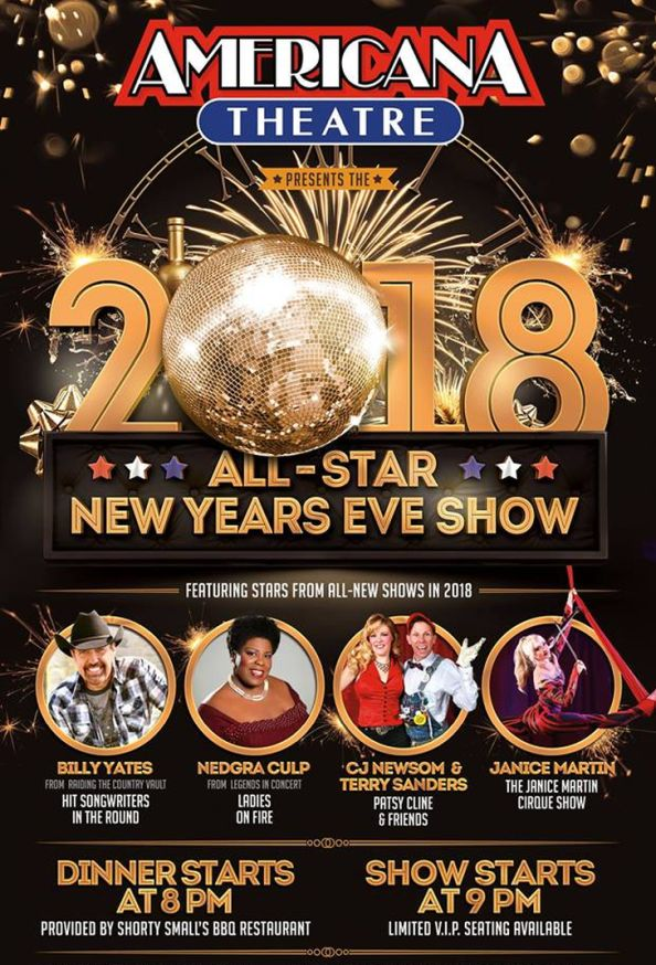 Celebrate 2018 in Style with the Americana Theatre's All-Star New Year's Eve Show!