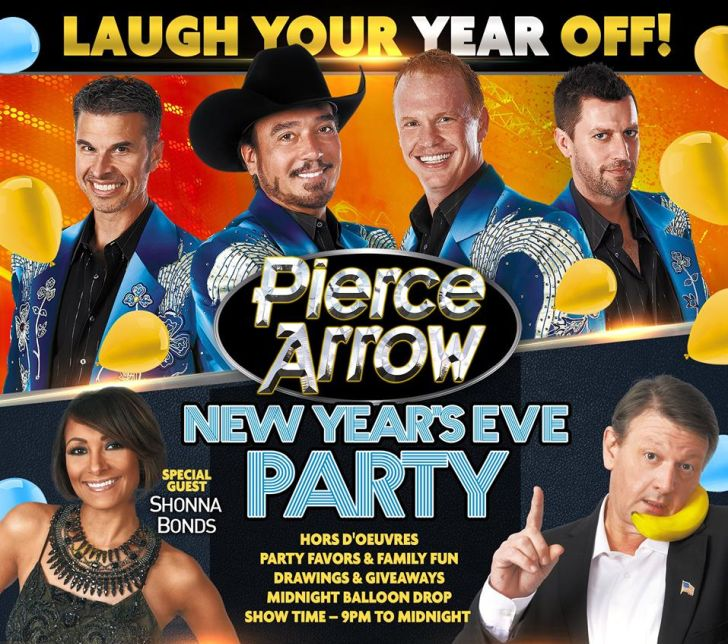Pierce Arrow's New Year's Eve Party features fun, food, giveaways, and special guests appearances!