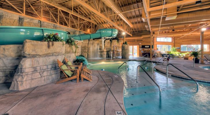 Welk Resort's Splashatorium offers guests staying at the hotel both indoor and outdoor water activities, slides, and pools.