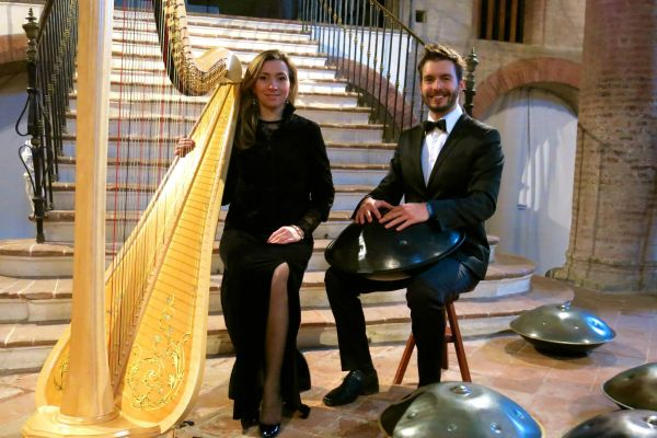 Experience the sights and sounds of the harp and hang drum in an incredibly powerful performance