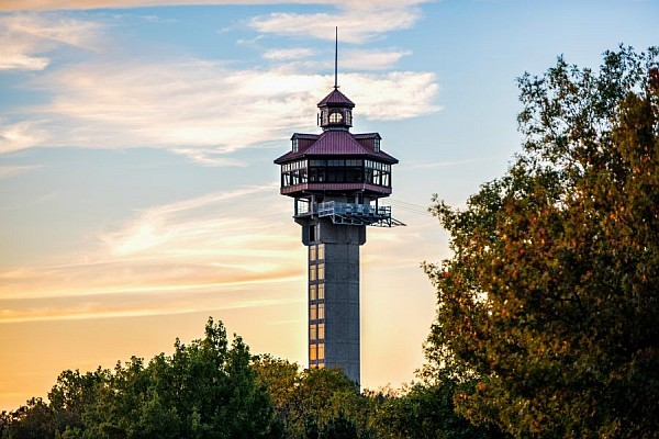 The Inspiration Tower provides breathtaking, sweeping, panoramic views of the Ozarks!