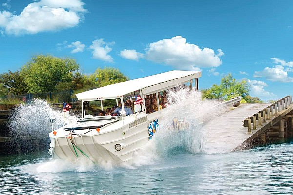 Branson's Ride the Ducks take you aboard an amphibious vehicle on a land and water sightseeing tour!