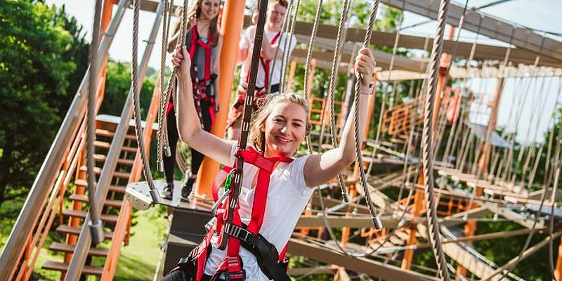 With 2 different courses (for adults and younger ones), the all-new Ropes Course at Shepherd of the Hills offers a fun and unique experience that you'll want to check out!