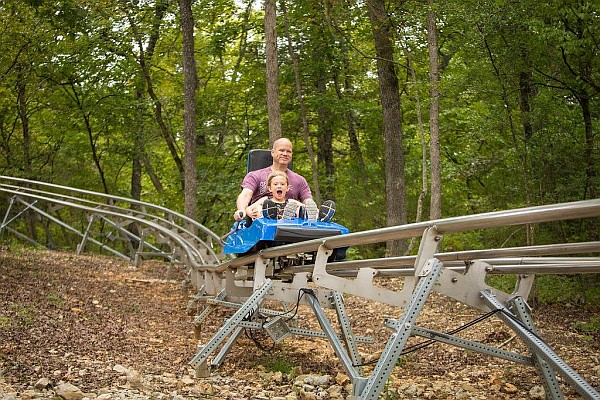 Branson's Runaway Mountain Coaster is thea area's original alpine coaster, taking riders on an exhilarating ride through the Ozark forests and alongside the Adventure Park's mountain.