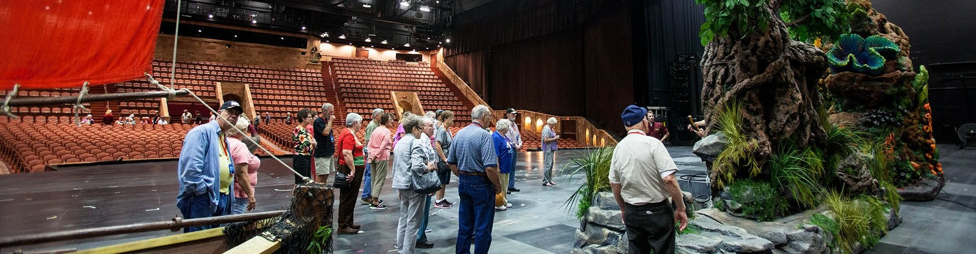 Walk the 20,000 square-foot stage and get a unique perspective of the theatre and everything that goes into creating the unforgettable shows.