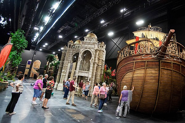 Get an up-close at the 4-story tall stage sets that help bring the Bible's stories to life on Sight & Sound's stage.