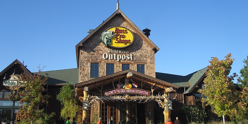 Bass Pro Shops' White River Outpost sits at the southern side of the Branson Landing