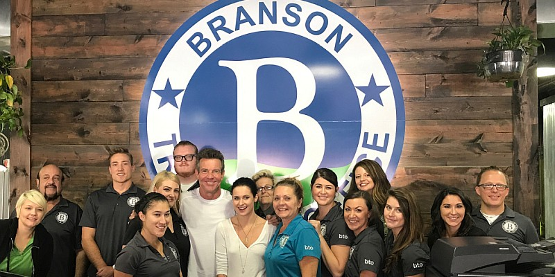 Dennis Quaid stopping by Branson Travel Office - he will be performing at The Mansion Theatre with his band The Sharks on July 28, 2018