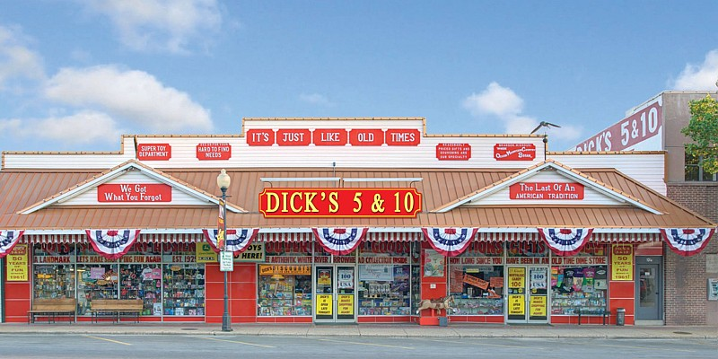 A staple of Downtown Branson, Dick's 5&10 is a throwback to bygone era and definitely a must-see for any visitor heading to downtown Branson.