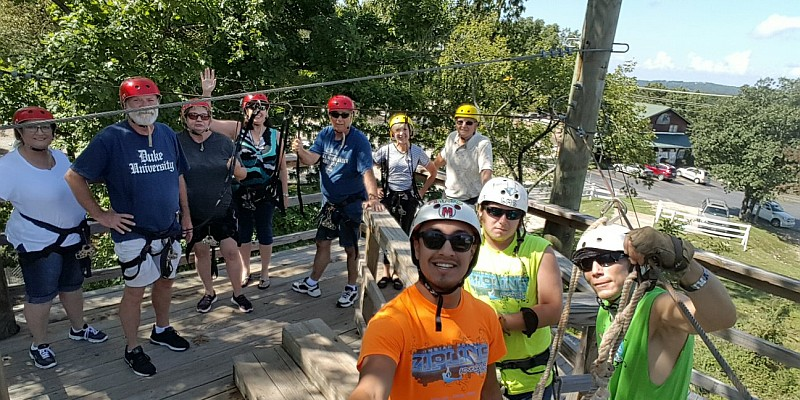Indian Point Ziplines (near Silver Dollar City) is one of the most affordable and fun ziplining experiences in Branson!