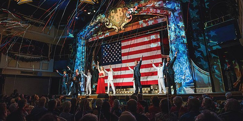 Showboat Branson Belle's lunch cruises take visitors on Table Rock Lake and are accompanied by a LIVE variety show onboard!