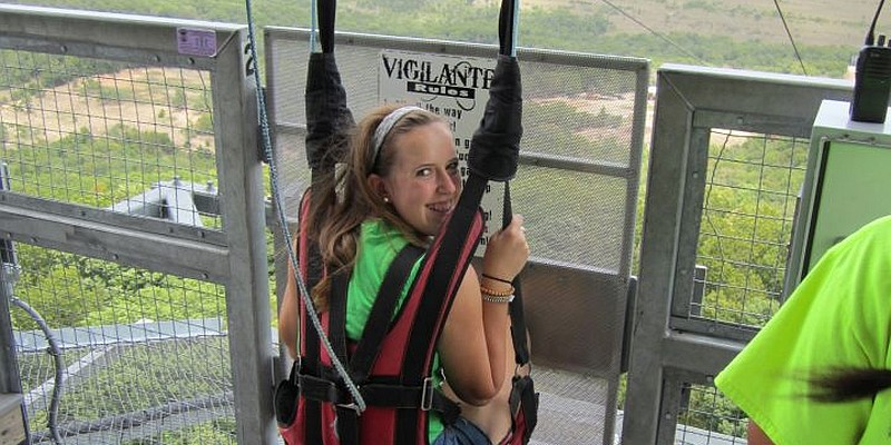 Launching from the top of the Inspiration Tower, the Vigilante Extreme ZipRider offers the highest zipline in Missouri!