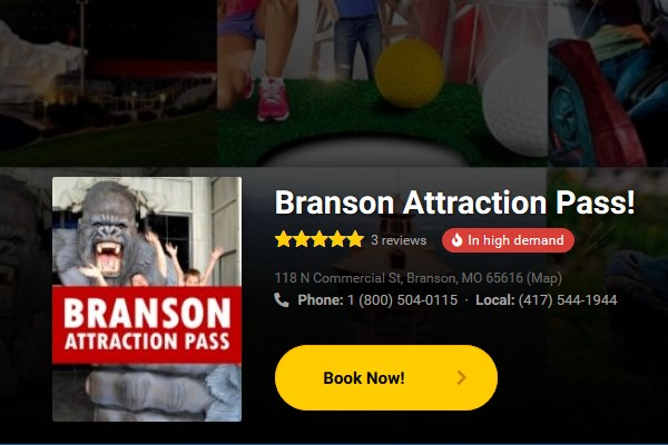 Get Branson Attraction Passes for your next visit and save BIG, offered exclusively through Branson Travel Office!