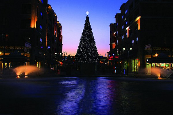 Branson Landing offers food, shopping, beautiful Christmas decorations, and more!