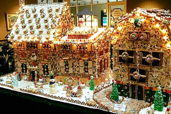 Check out the amazing Gingerbread Village at Branson's Chateau on the Lake!
