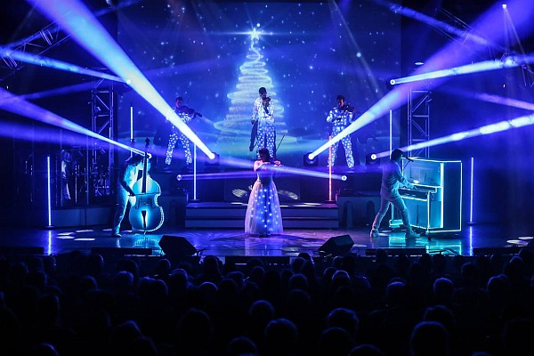 "A dazzling display of singing, musicianship, lighting, and talent make the Haygoods' Christmas show a ""must-see"" this year!"