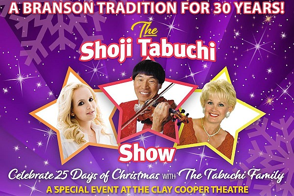 Shoji Tabuchi has announced a series of 25 Christmas shows October-December at the Clay Cooper Theatre