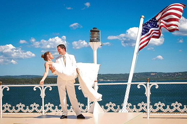 The Showboat Branson Belle offers an unforgettable venue for getting married in Branson