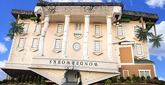 The new WonderWorks building in Branson shares the same iconic and instantly recognizable architectural style of their other locations